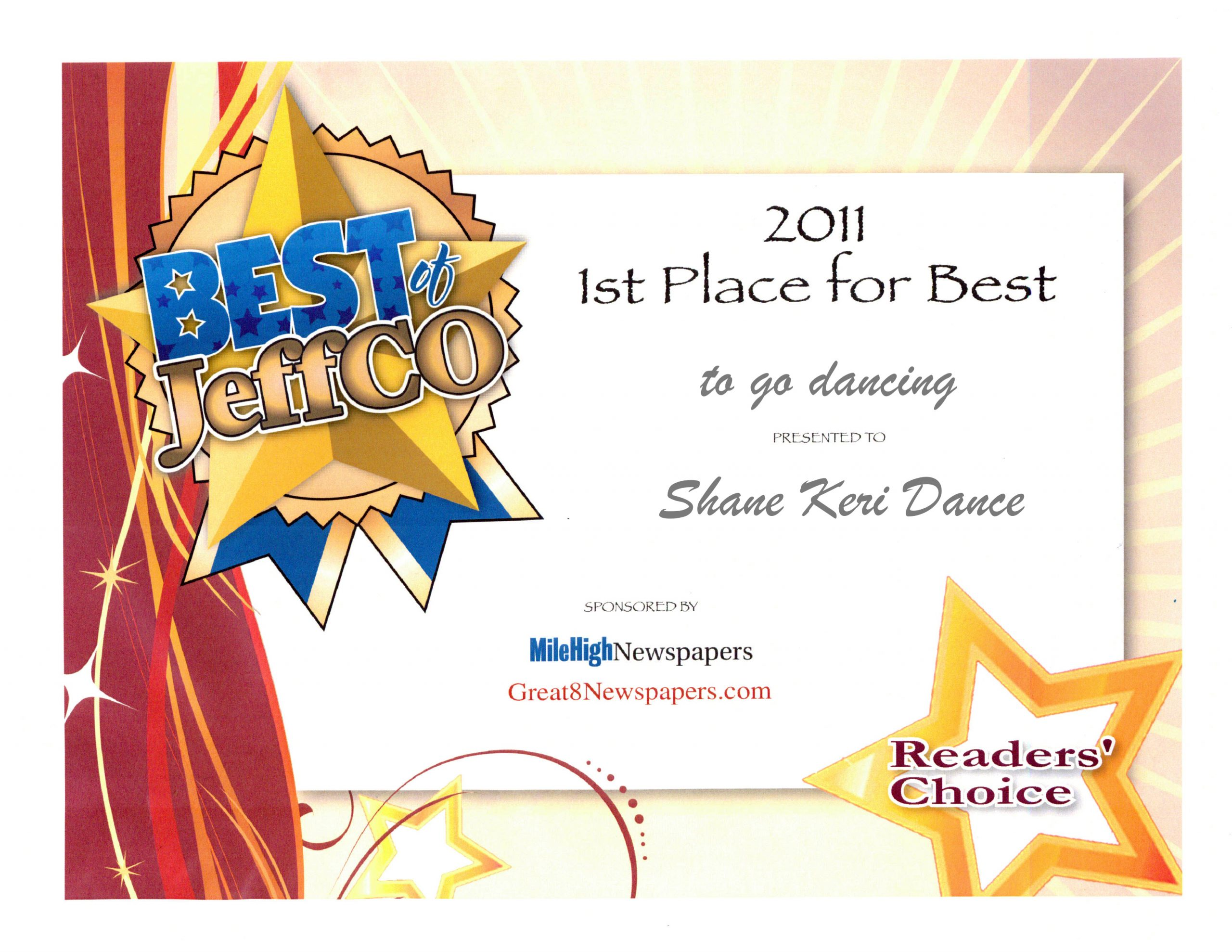 First Place best place for dance